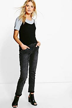 Louise Slim Fit Charcoal Skinny Jeans