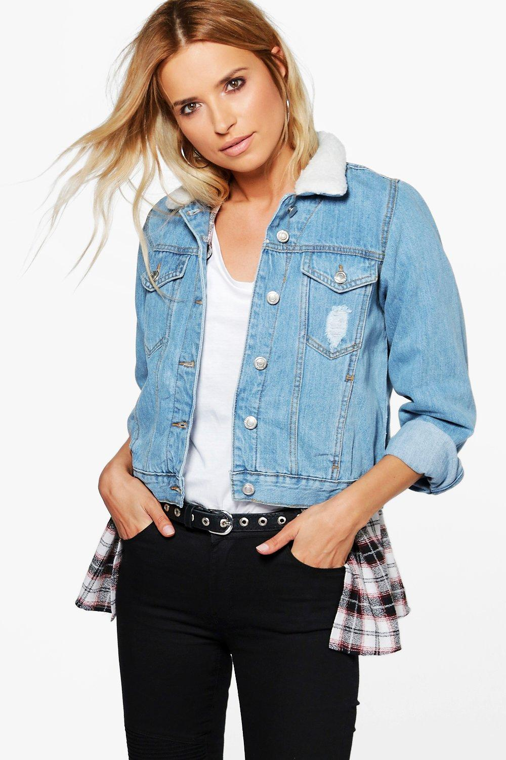 Cindy Borg Collar Denim Jacket