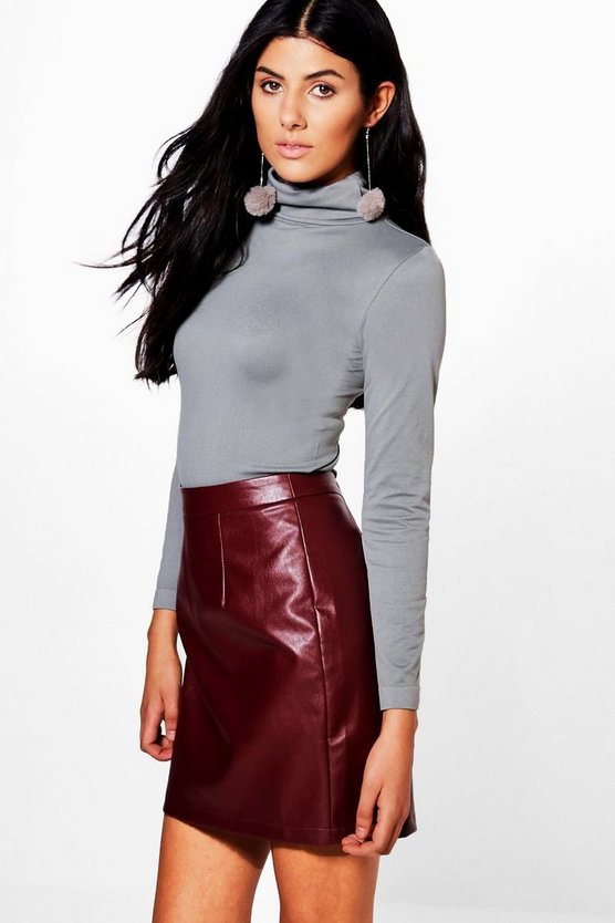 Juliana Super Stretch Seamless Roll Neck