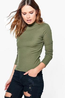 Vivian Ribbed Roll Neck