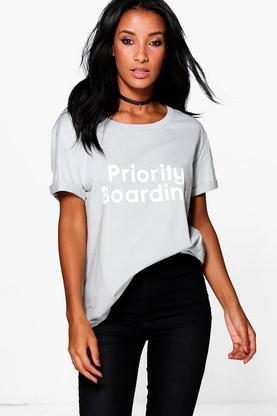 Ella Priority Printed Oversized T-Shirt