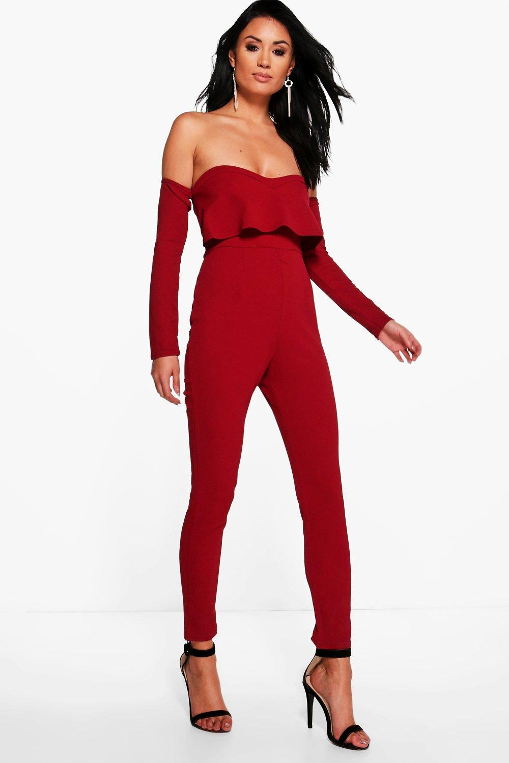 New Boohoo Womens Claire Cut Out Halterneck Jumpsuit  EBay