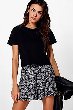 Ruth Tile Print Flippy Shorts