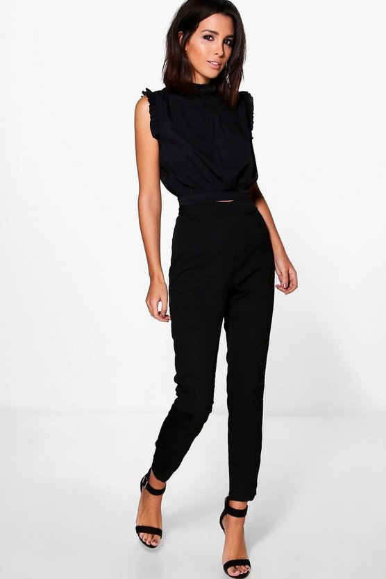Imogen Pintuck Woven Tailored Trouser