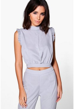 Imogen Frill Sleeveless Woven Top
