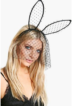 Eve Halloween Polkadot Ear & Veil Headband