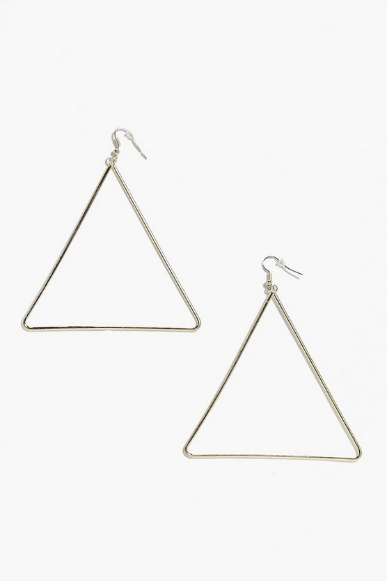 Tilly Large Triangle Hoop Earring