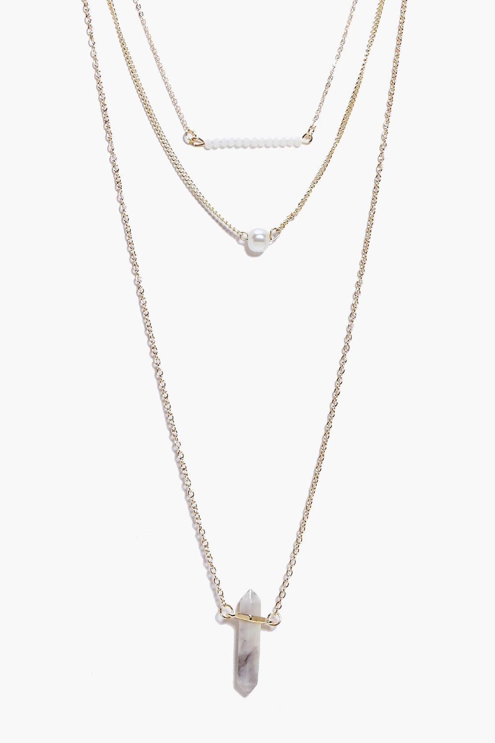 Mae Bar & Marble Skinny Layered Necklace