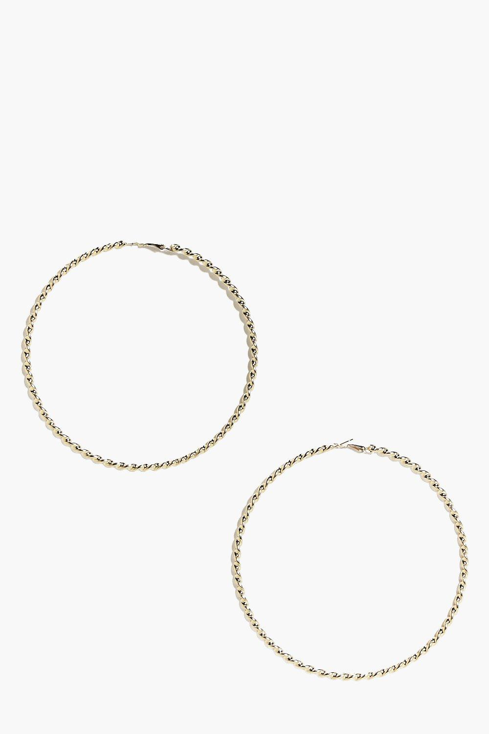 Rebecca Twisted Hoop Earrings