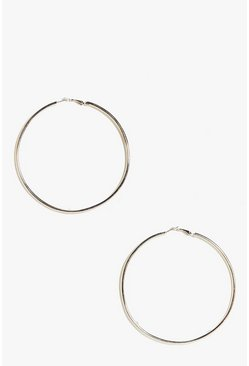 Sarah Plain Hoop Earrings