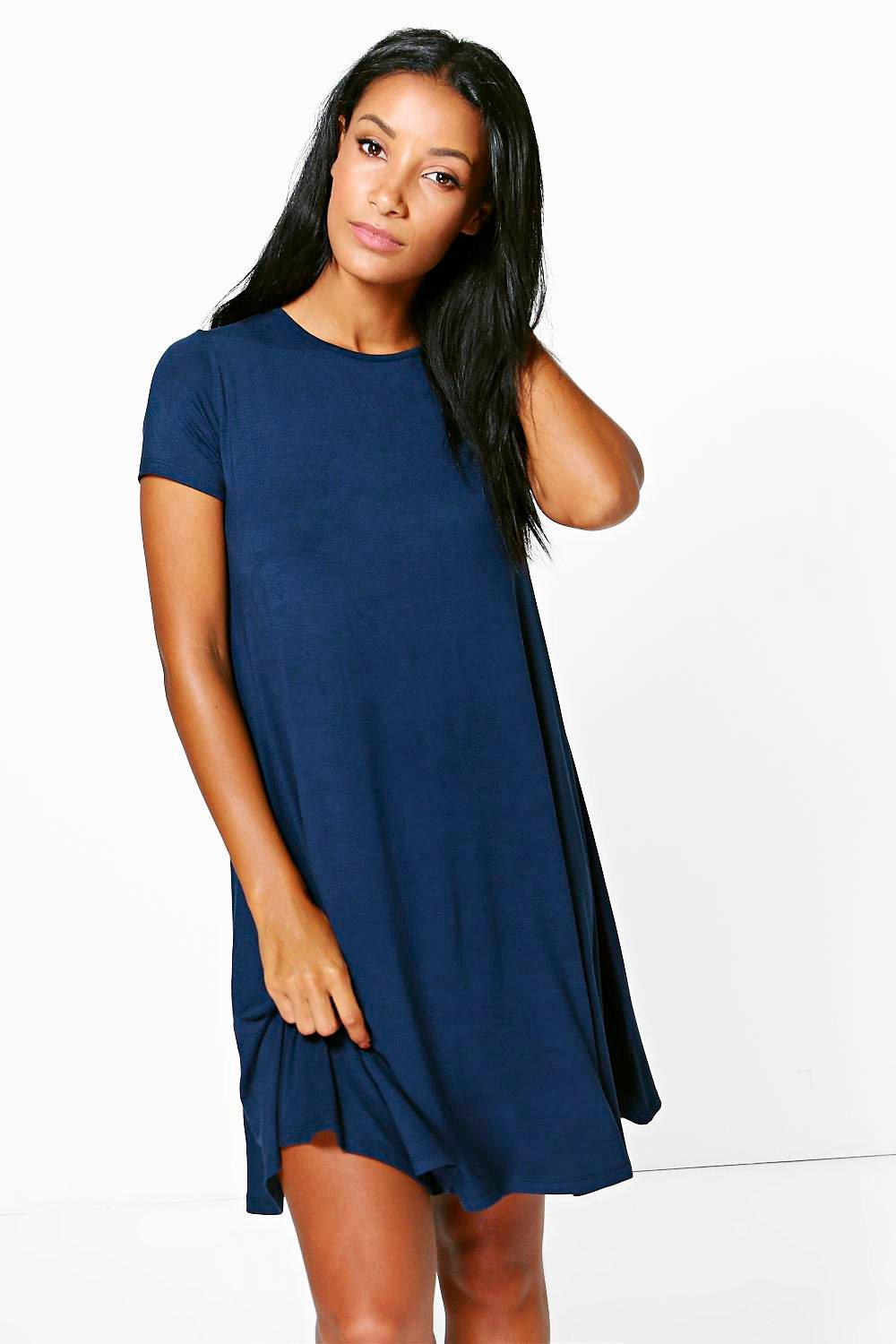 Rina Cap Sleeve Swing Dress