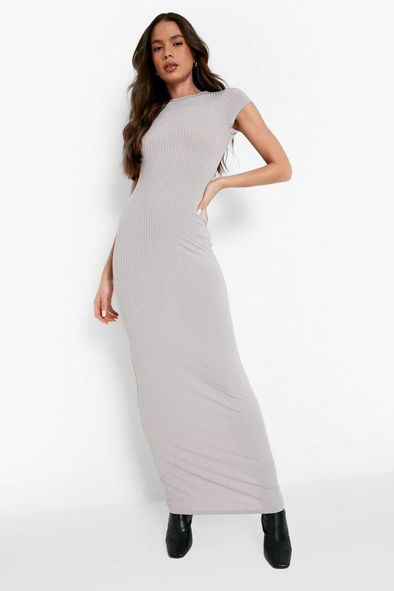 Maura Cap Sleeved Ribbed Bodycon Dress