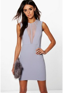 Trixie Mesh Strappy Detail Bodycon Dress