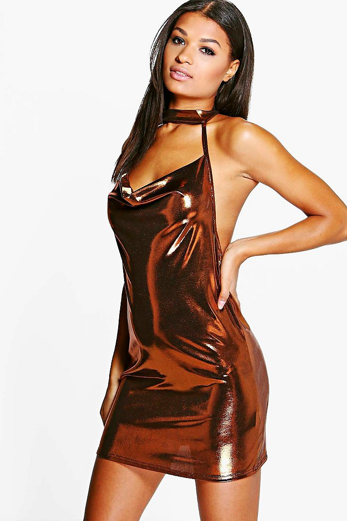 Marlin Choker Strappy Slinky Bodycon Dress