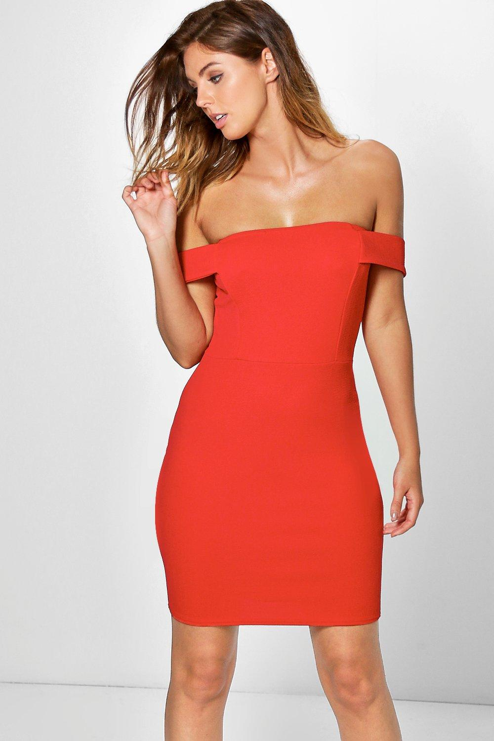 Gia Off Shoulder Bodycon Mini Dress