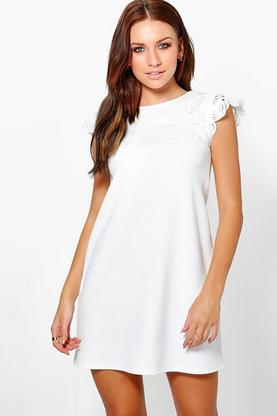 Brenda Embroidered Top Shift Dress