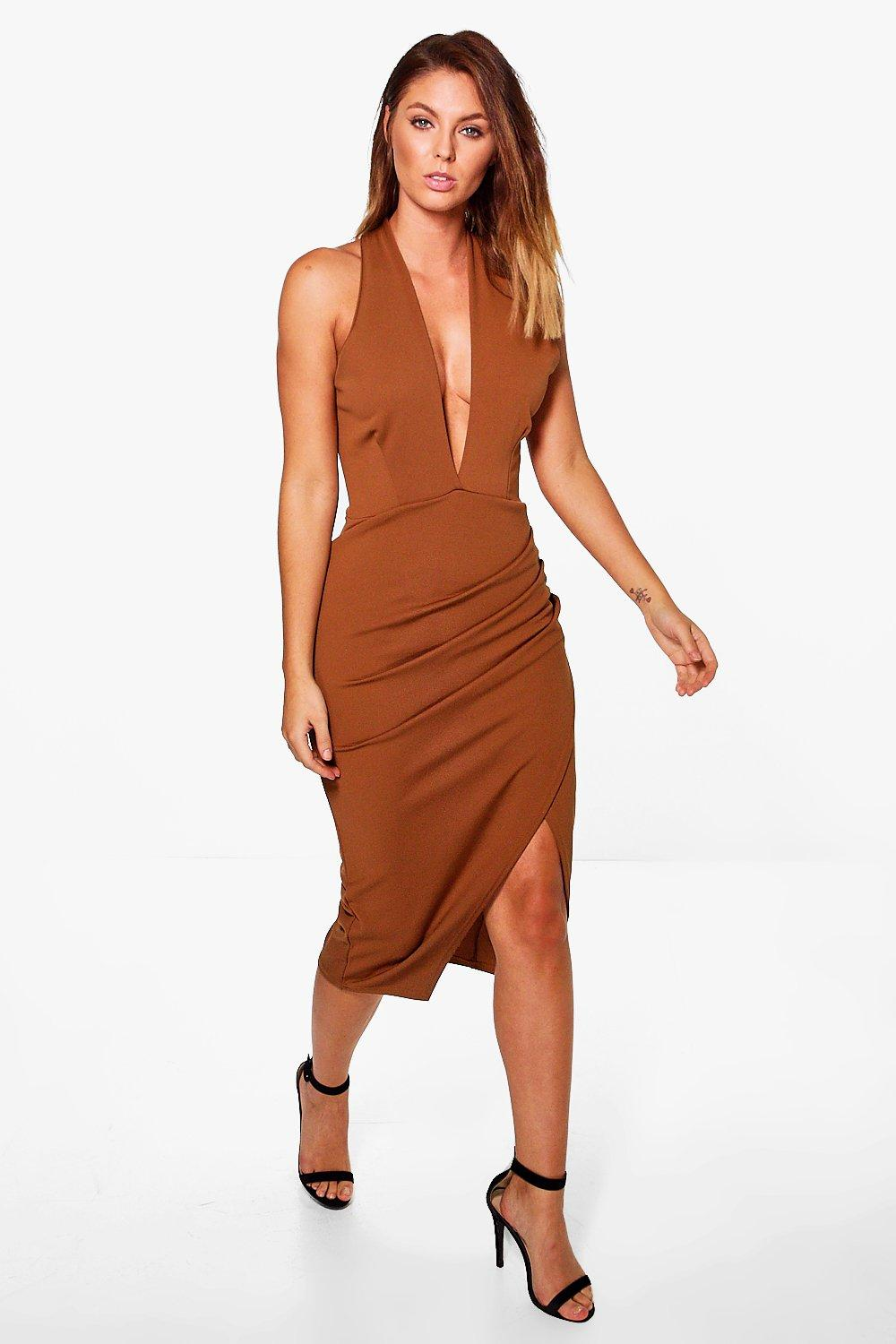 Verena Wrap Top Halter Midi Dress