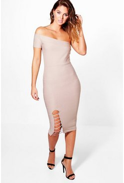 Kalani One Shoulder Bandage Midi Dress