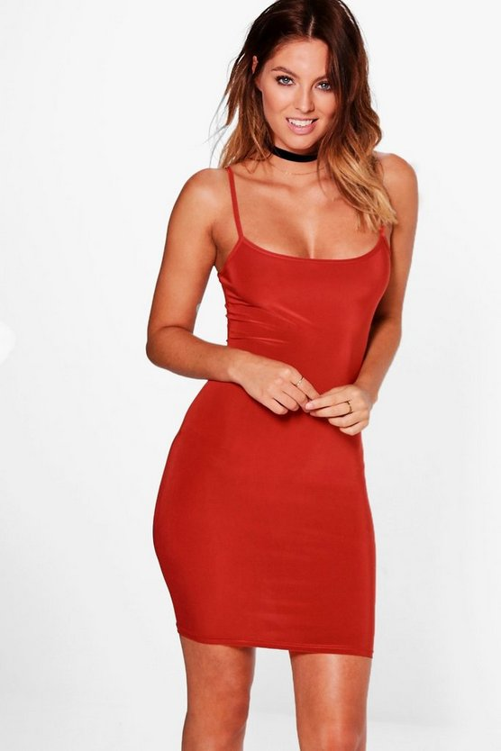 Amy Slinky Strappy Mini Bodycon Dress