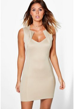 Rorie Structured Panelled Bodycon Dress