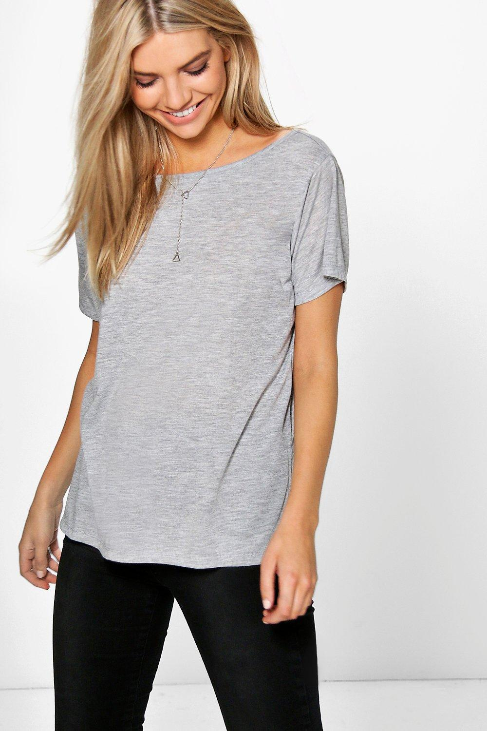 Casey Slash Neck T-Shirt