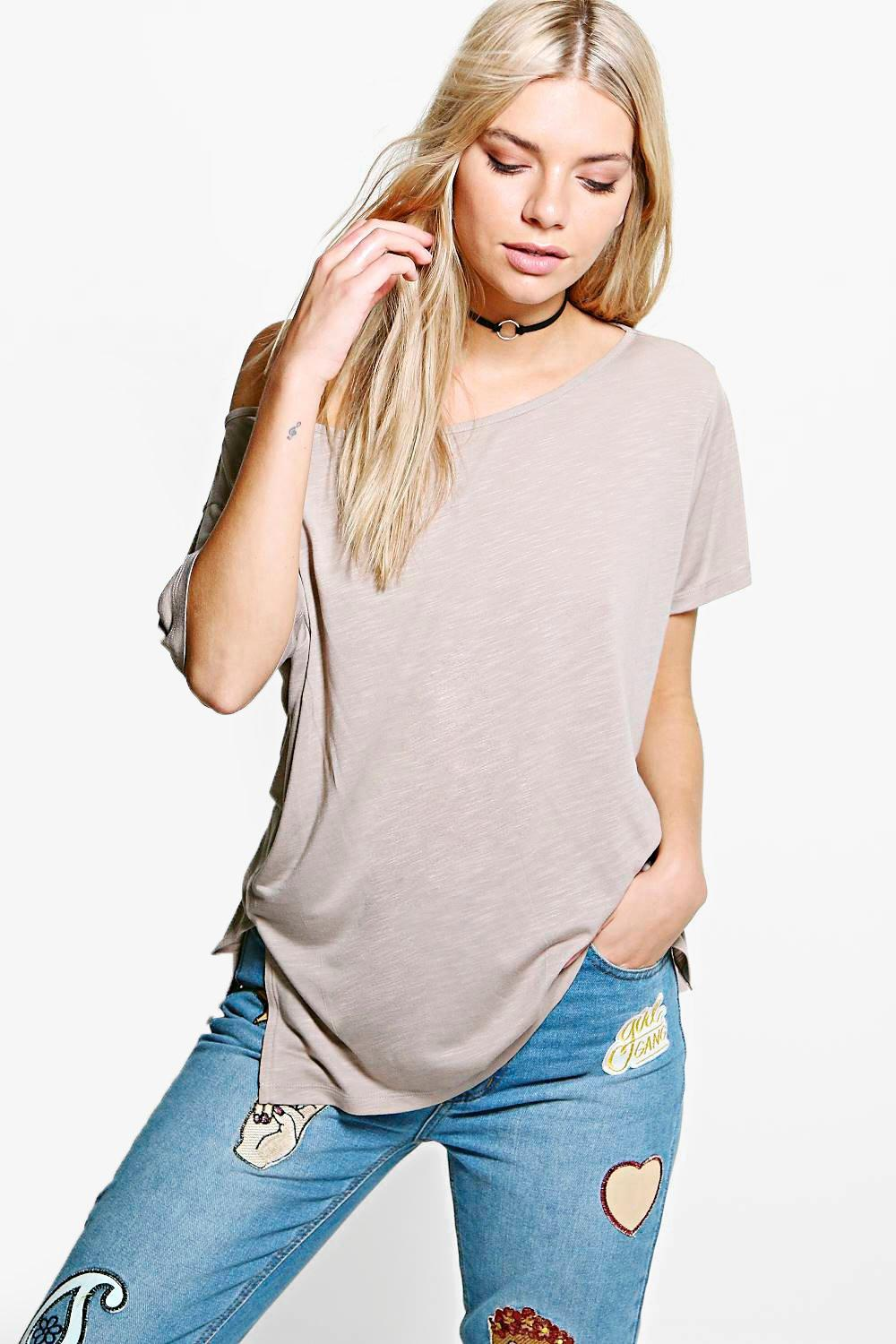 Sonya Slub Off The Shoulder T-Shirt