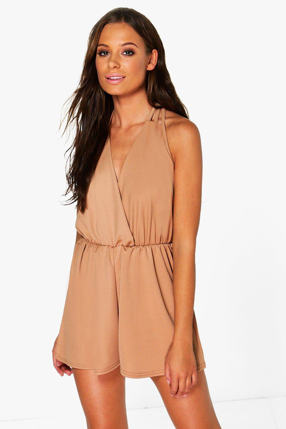 Mona Strappy Wrap Front Playsuit
