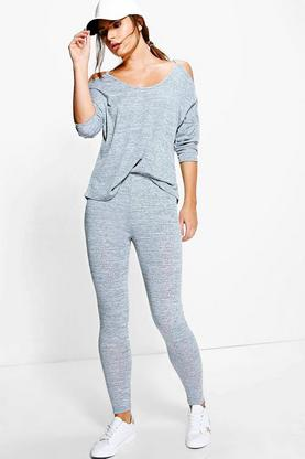 Florence Cold Shoulder Knitted Jogger Lounge Set