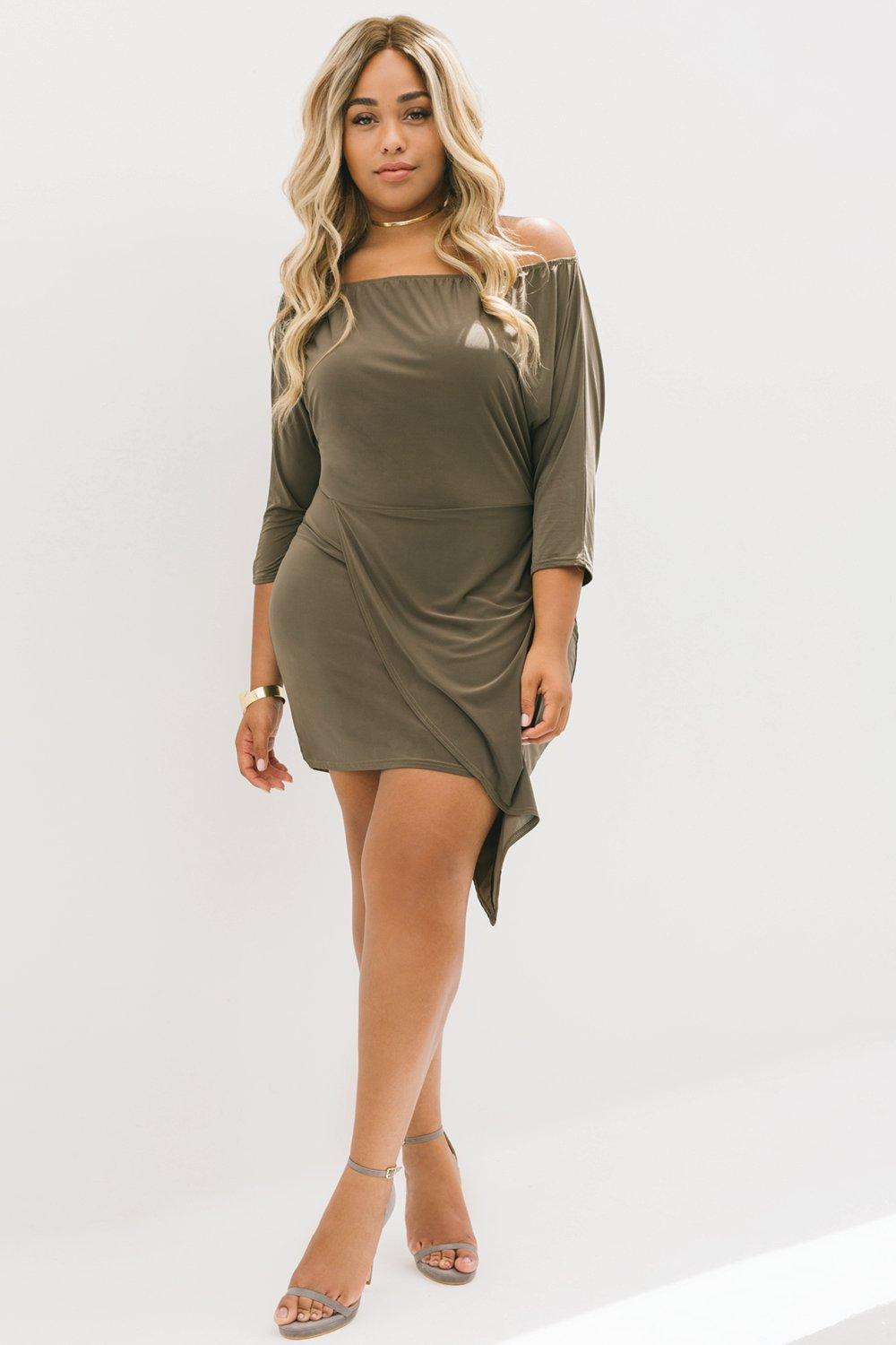 Jordyn Asymetric Off The Shoulder Dress