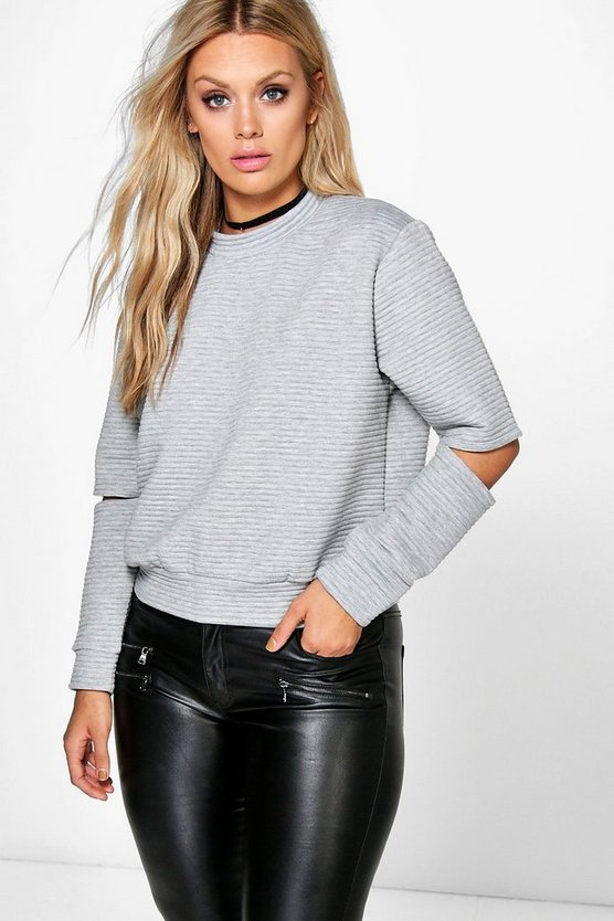 Jordyn Cut Out Rib Sweat