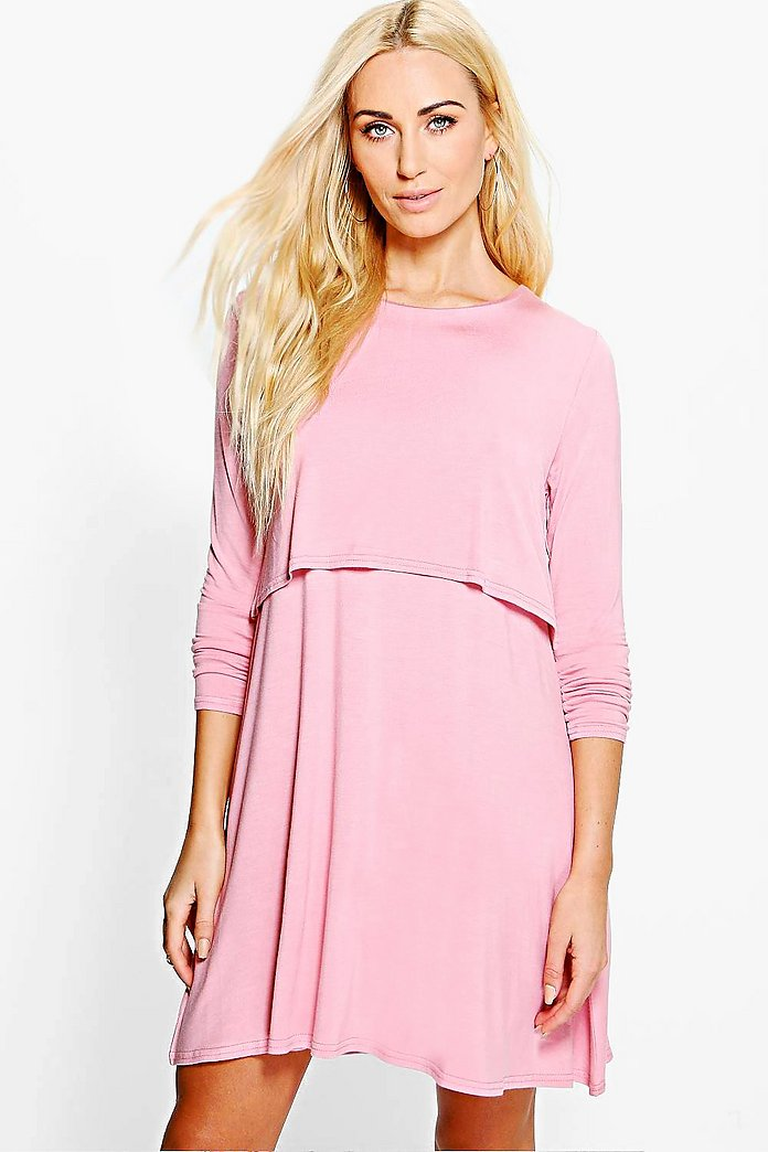 Ailani Double Layered A-Line Shift Dress
