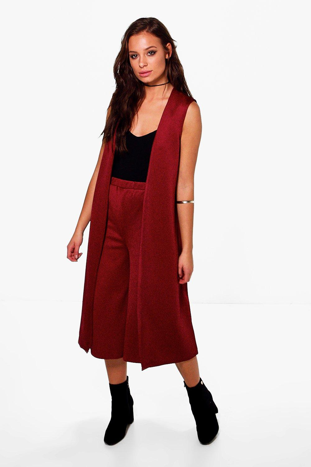 Jasmine Sleeveless Duster & Culotte Set