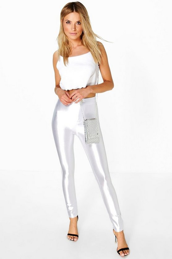 Avah High Waist Super Stretch Satin Disco Trousers