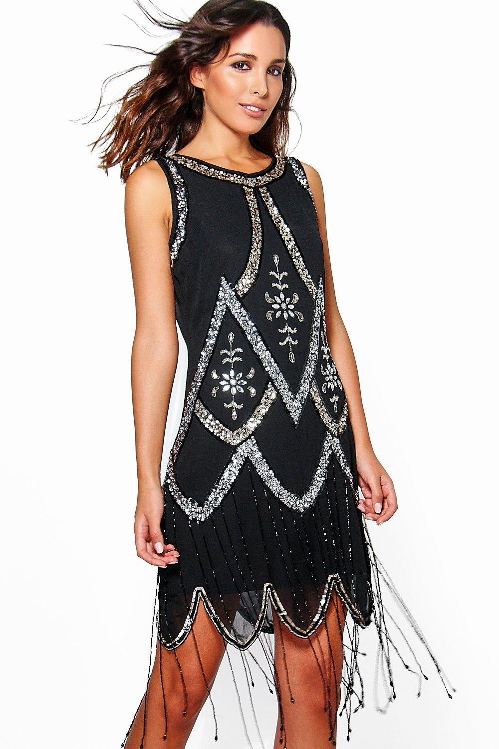 Boutique Una Embellished Tassel Shift Dress