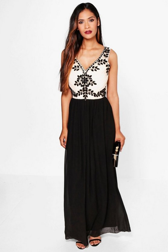 Boutique Iva Embellished Detail Maxi Dress