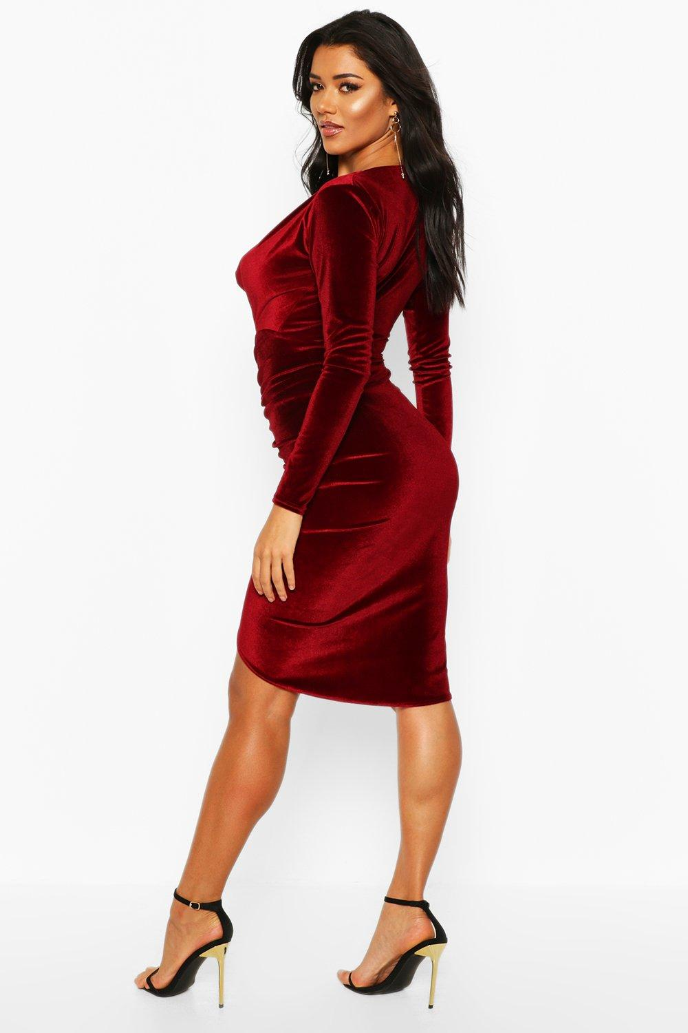 details front midi draped nissa drapes view dress products en