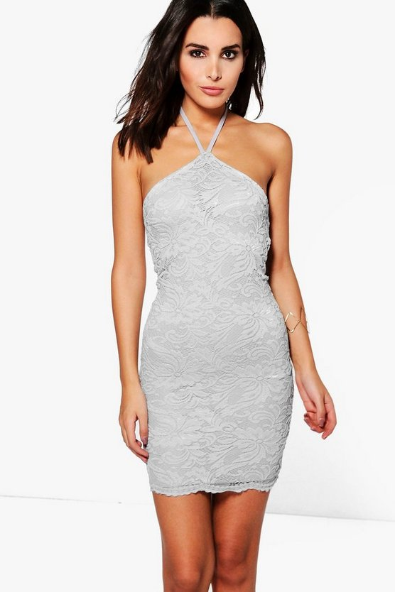 Hadley Scallop Lace Midi Bodycon Dress