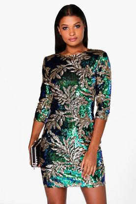 Boutique Mia All Sequin Bodycon Dress