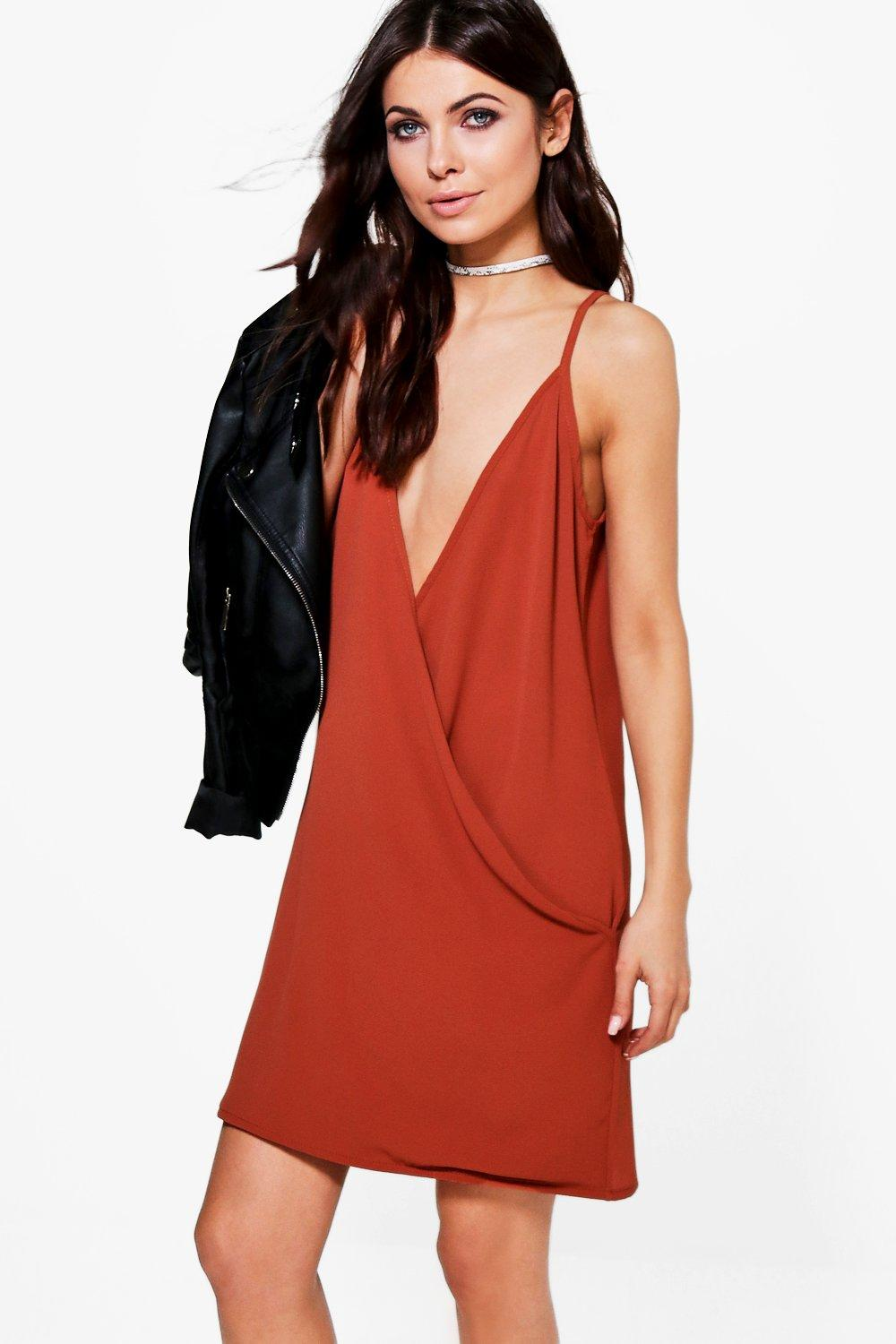 Dani Drape Wrap Deep Plunge Bodycon Dress