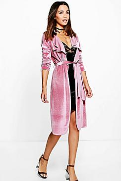 Tilly Shawl Collar Velvet Duster
