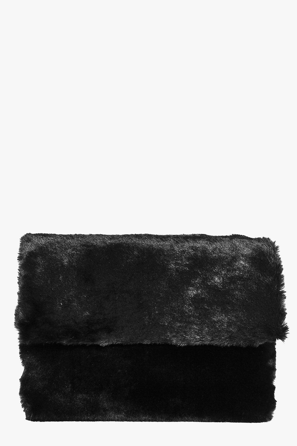 Holly Faux Fur Cross Body Fold Over Bag