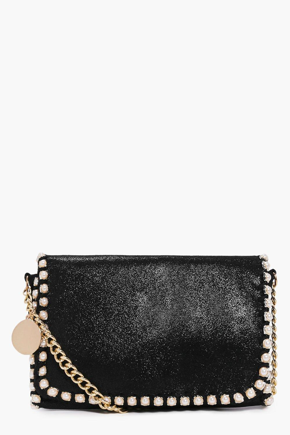 Evie Pearl Detail Chain Strap Cross Body Bag