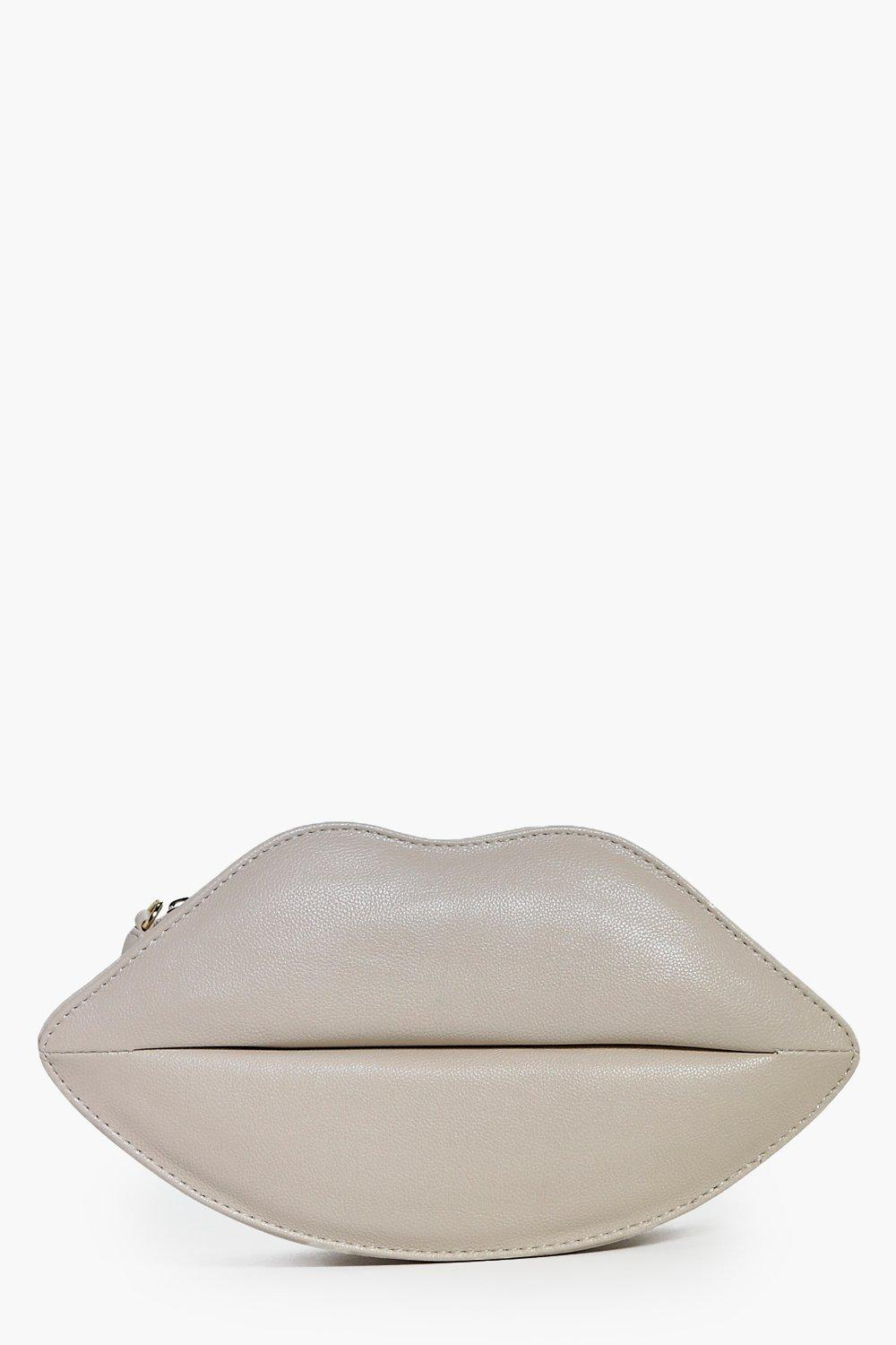 Sophia Lips Structured Clutch