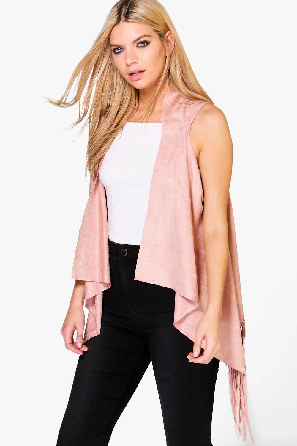 Lily Fringed Suedette Cape Waistcoat
