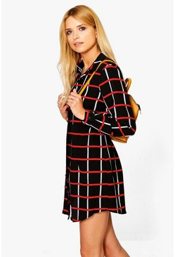 Brogan Grunge Check Shirt Dress