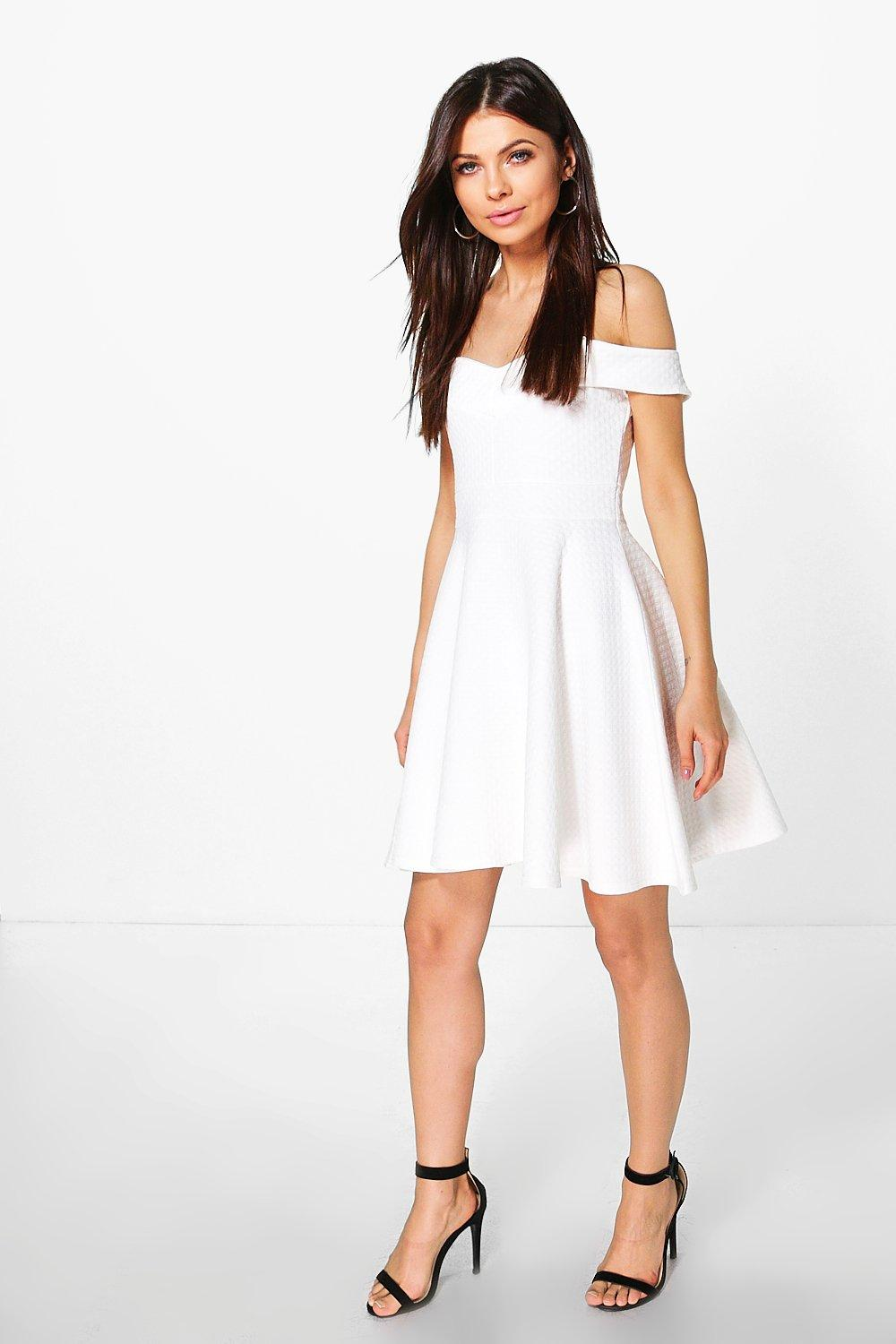 Joslyn Off the Shoulder Skater Dress