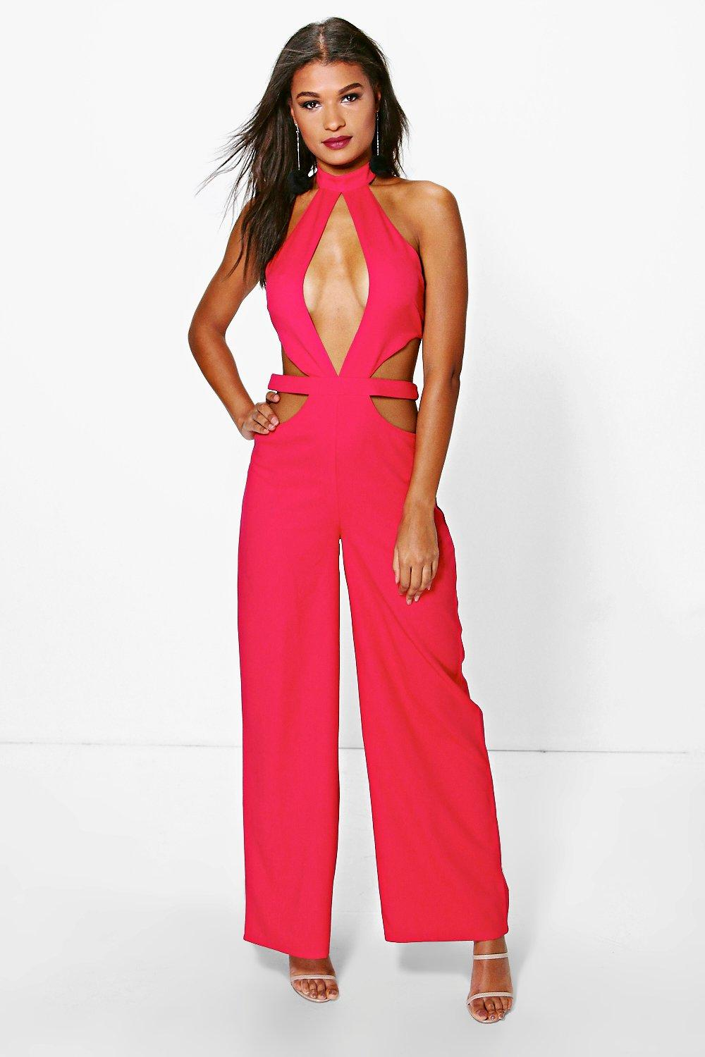 Sara Extreme Cut Out Choker Jumpsuit