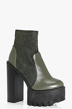 Zoe Cleated Skyscraper Platform Boot