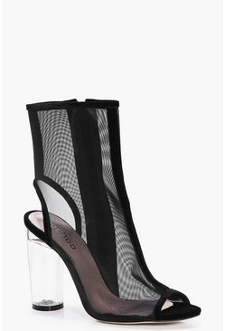 Julia Mesh Clear Heel Shoe Boot