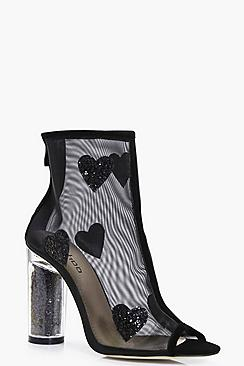 Kara Heart Trim Mesh Shoe Boot